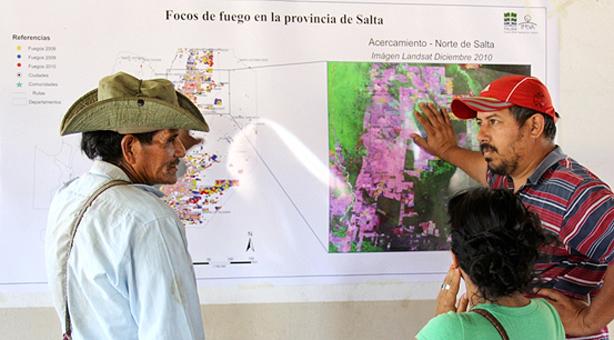 Los wichí monitorean los desmontes (Foto gentileza M. Vallejos)